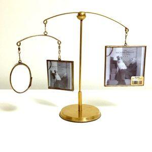 "Photo Frame 10"" tall bronze balancing mobile"